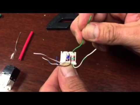 Cat 6 Panduit TX6 termination (female RJ45)  YouTube
