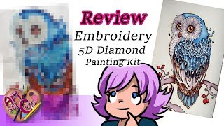 Painting with Plastic Bits Embroidery 5D Diamond Painting Review