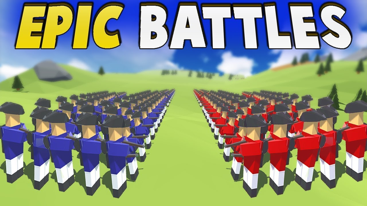 HUGE Musket LINE BATTLES! FREE to Play Revolutionary Ravenfield!? (Rise of Liberty - Hold the Line) #1