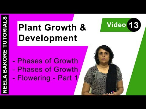 Plant Growth and Development - Phases of Growth - Flowering - Part 1