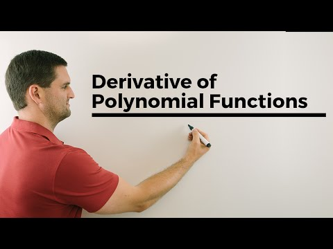 First Derivative of Polynomial Functions, f prime of x easy way