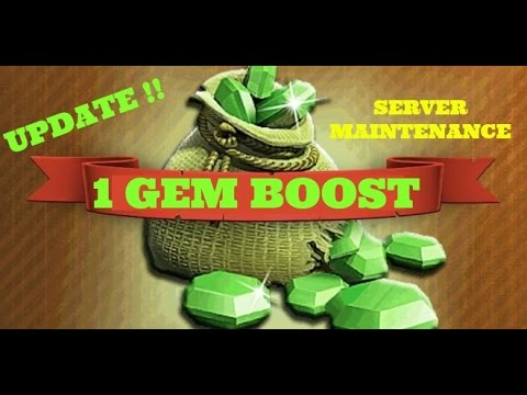 Clash of Clans: New 1 Gem Resource Boost Special Update! Server Maintenance New Boost Update