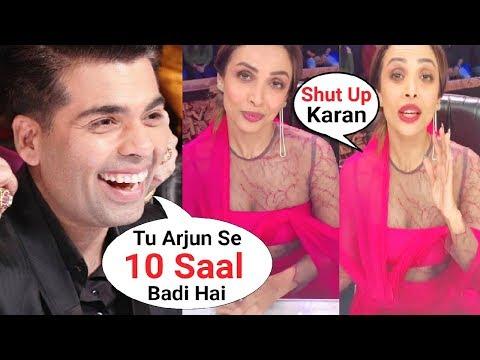 Karan Johar Makes Fun of Malaika Arora Khan Age Gap With Arjun Kapoor At India's Got Talent