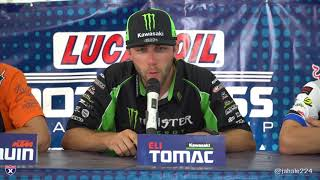 Eli Tomac, Marvin Musquin and Justin Barcia talk High Point.