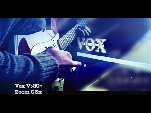 Zoom G3x guitar looping Vox vt20+ (acoustic simulator+crunch)
