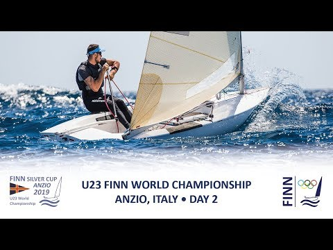 Highlights of Day 2 at the 2019 Finn Silver Cup in Anzio