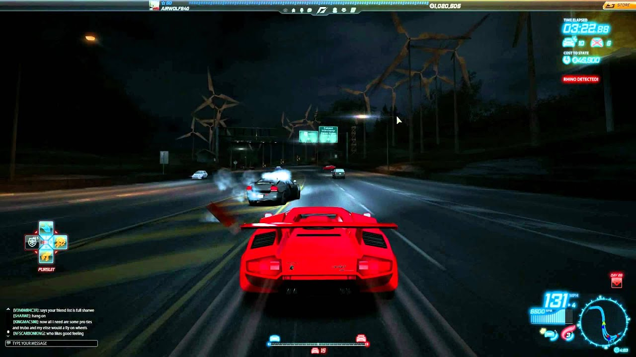 nfs world lamborghini countach 5000qv cop chase youtube. Black Bedroom Furniture Sets. Home Design Ideas