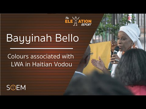 Colours associated with LWA in Haitian Vodou with Prof Bayyinah Bello | D2D