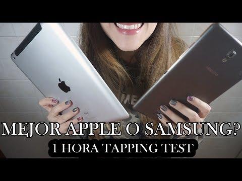 ⭐️ ASMR ⭐️ MEJOR APPLE IPAD O SAMSUNG GALAXY TAB? | 1 hora Tapping Test |