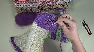 Як заштопати в'язані шкарпетки. Штопання вовняних шкарпеток. How to mend knitted socks.