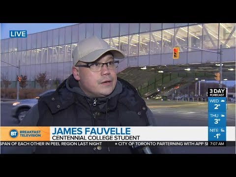 Ontario College Strike - Day 36 -James Fauvelle on tuition rebate & the hardship fund- November 2017