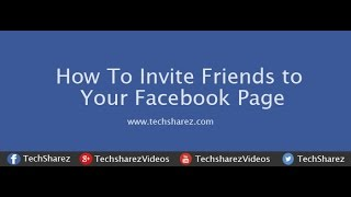 How to invite friends to facebook page