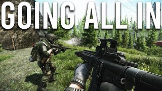Escape from tarkov is punishing me so i'm going all in with my best gear and guns. will we survive or be minced into a pulp? let's find out. leave like and...