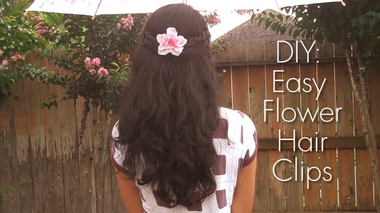 Diy How To Make Your Own Floral Hair Piece Flower Hair Diy