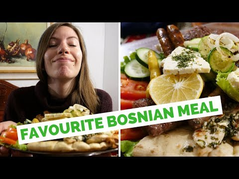 Our favorite Bosnian Food in Mostar, Bosnia and Herzegovina
