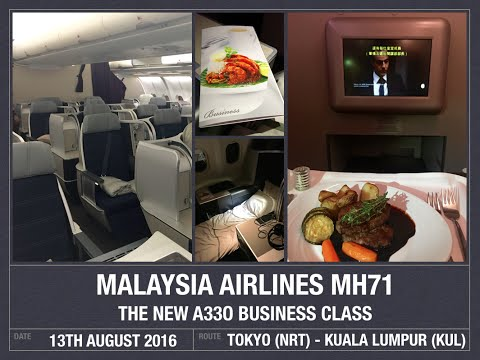 Malaysia Airlines MH71 New A330 Business Class Flight Review