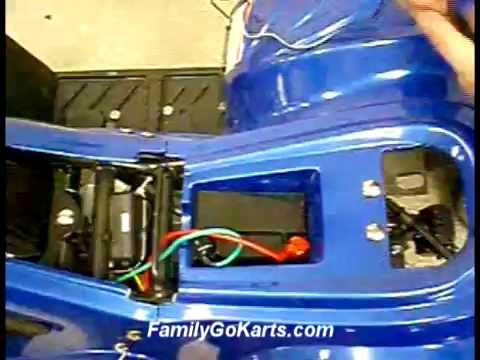 Apache 50cc Quad Wiring Diagram Wind Turbine Charge Controller Circuit Tao Atv Battery Charging Speed Limiter And Rear Tether From Familygokarts Com Youtube