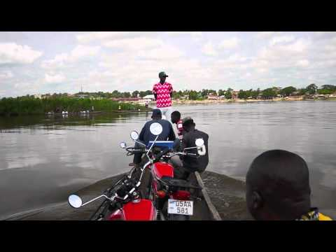Crossing the Congo River in Kindu