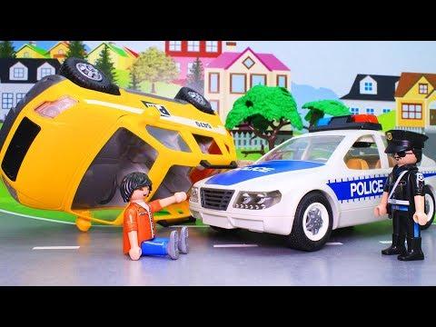 Мультики про машинки с игрушками Плеймобил. Все серии подряд. Видео для детей