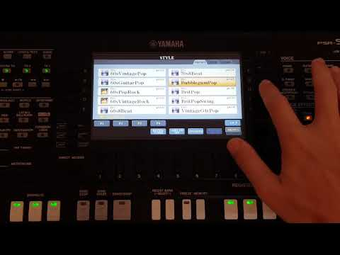 Yamaha PSR-S775 - Factory Styles Rock&Pop and Ballad Categories