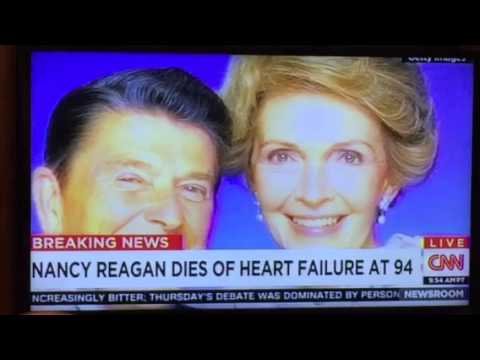 Nancy Reagan Dies Of Heart Failure At 94