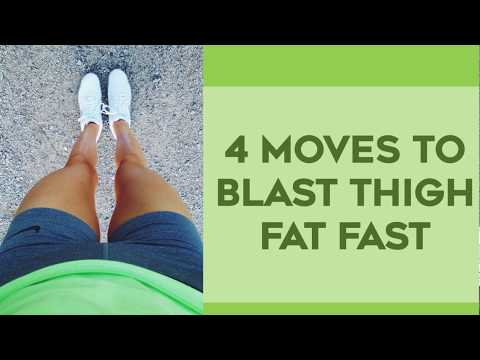 💜 How To Lose Thigh Fat Fast 🏁 | 4 Amazing Exercises To Lose Thigh Fat For Thinner Legs!