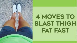How To Lose Thigh Fat Fast  | 4 Amazing Exercises To Lose Thigh Fat For Thinner Legs!