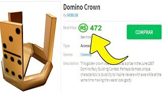 DOMINO CROWN SOLD BY 472 ROBUX NO ROBLOX