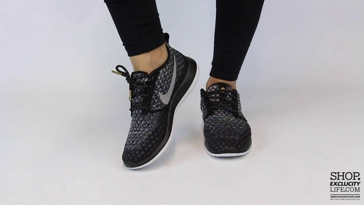 on sale d84cb f0360 Women s Nike Roshe Run Two 365 Black Team Red On feet Video at Exclucity