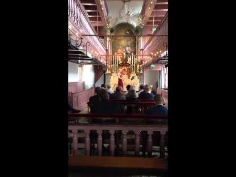 Performance in hidden church Amsterdam