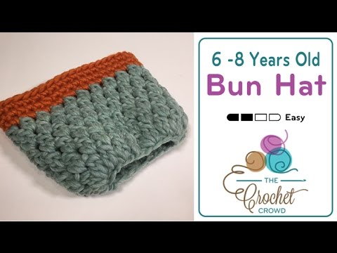 Crochet Hat Pattern For 8 Month Old : How to Crochet A Messy Bun Hat: 6 - 8 Years Old - YouTube