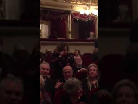 Roberta Armani and Russel Crowe try Spectrophon app in Teatro alla Scala b9c0354a93f