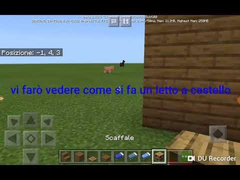 Come Fare Un Letto A Castello Su Minecraft Youtube