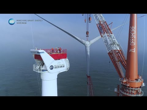 8MW Offshore Wind Turbine in Guangdong广东八兆瓦海上风电吊装