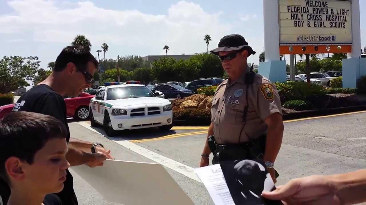 Miami SeaQuarium Protest - Miami Dade Police Harassment 9/14/2013
