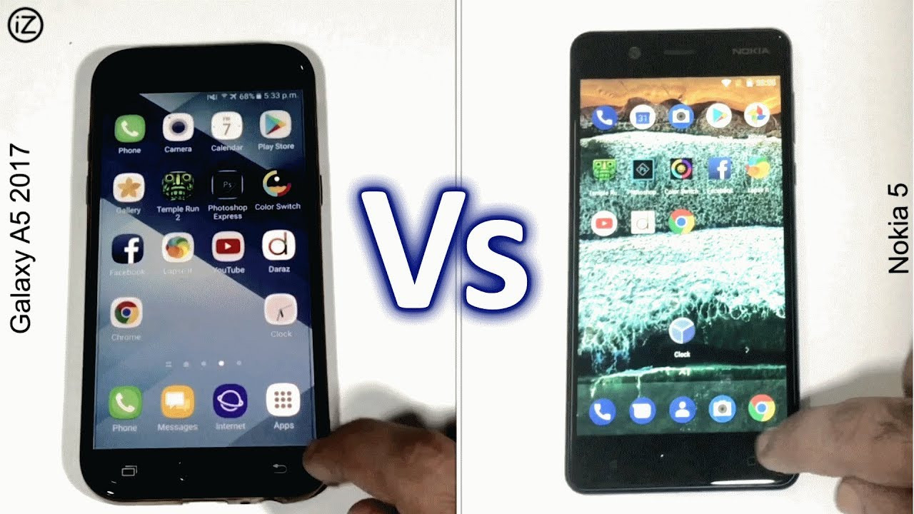 nokia 5 vs galaxy a5 2017 speed test comparison urdu hindi 4k youtube. Black Bedroom Furniture Sets. Home Design Ideas