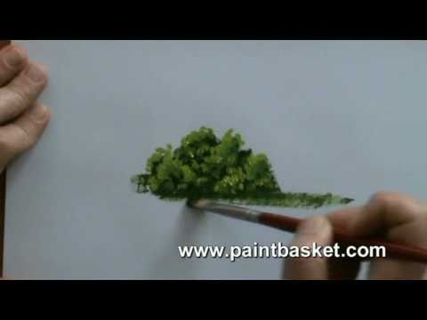 Painting lessons how to paint trees and bushes in oil for Easy oil painting tutorial