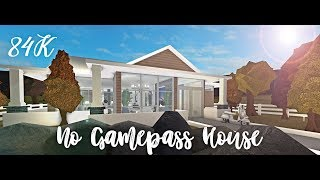 Roblox Bloxburg | No Gamepass House Speedbuild | 84k