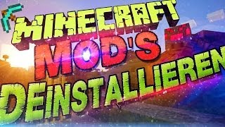 Minecraft Mods Deinstallieren / Mod Löschen! ✖ Minecraft Version 1.11 ✖ German Deutsch | Tutorial
