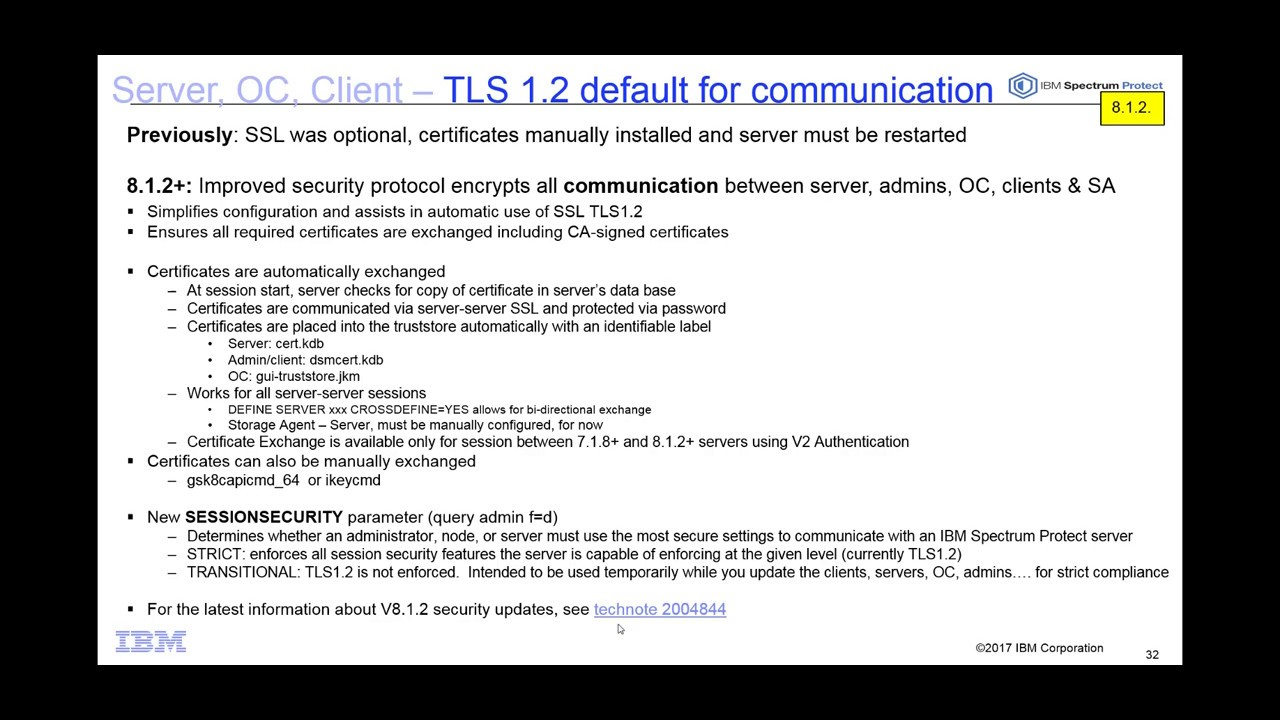 Ibm spectrum protect 812 server client automated tls 12 ibm spectrum protect 812 server client automated tls 12 implementation demo 1betcityfo Gallery