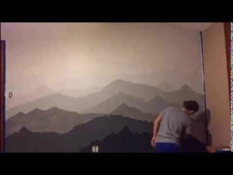 Mountain Wall Mural mountain mural time-lapse - youtube
