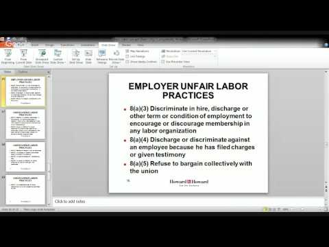 Labor Law 101 with Michael Lied - February 8, 2016