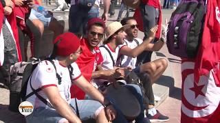 В Волгограде на Привокзальной площади болельщики из Туниса устроили свой фестиваль