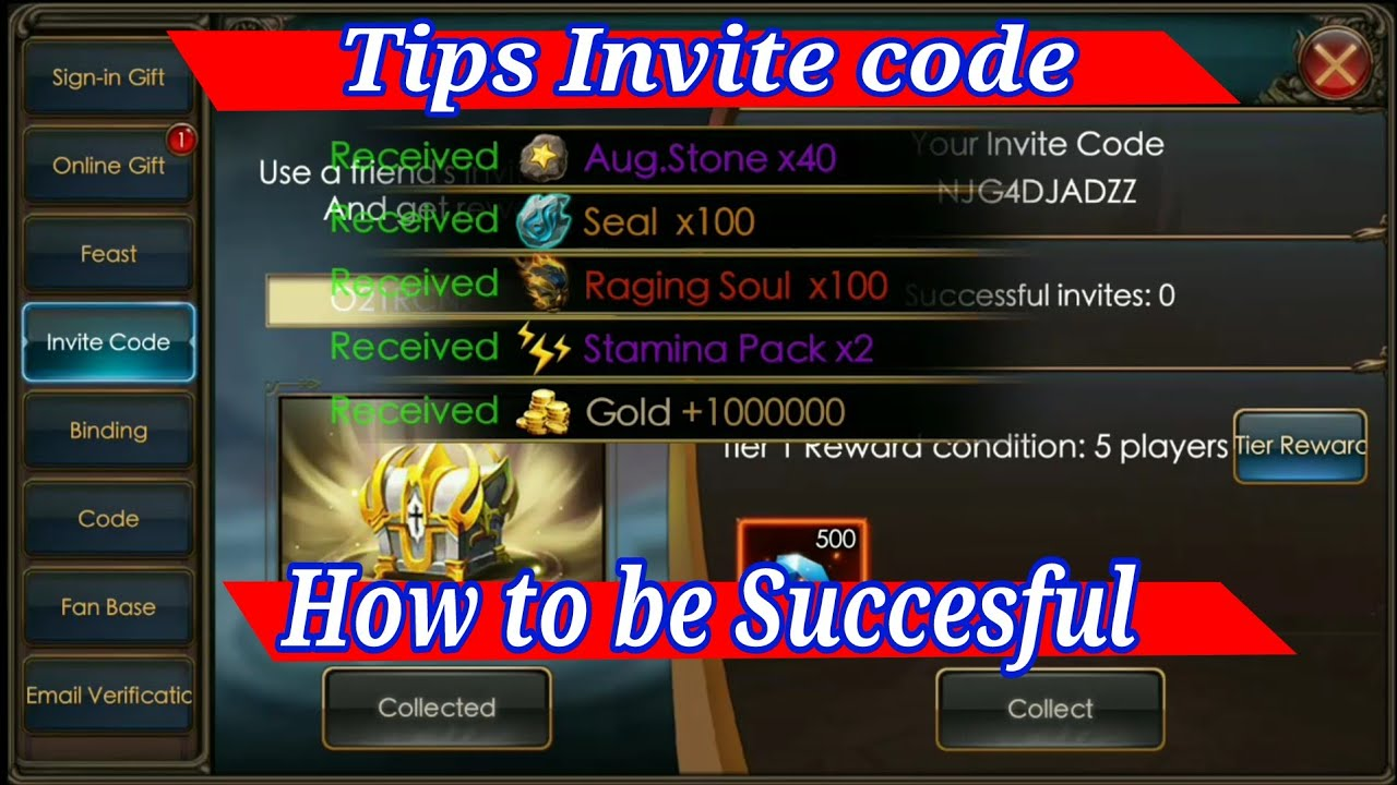 Tips Invite code How to be Work the code!! Legacy of discord
