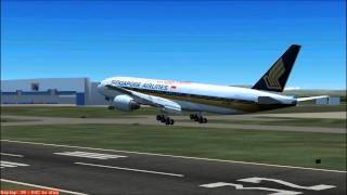 Singapore Airlines Boeing 777 (FS2004)