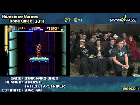 Super The Empire Strikes Back :: SPEED RUN [SNES] Live by Striker #AGDQ 2014