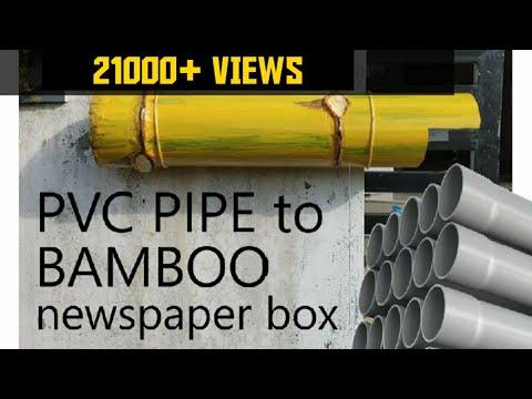 DIY Bamboo Newspaper box by PVC pipes
