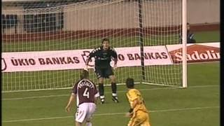 2006 (August 9) Hearts (Scotland) 1-AEK Athens (Greece) 2 (Champions League)