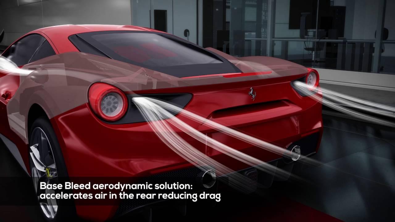 Ferrari 488 Gtb Aerodynamics Youtube