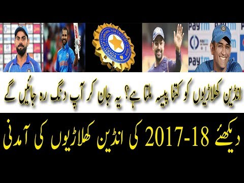annual income of indian cricketers, bcci contracts 2017-18 | AA Sports Cricket